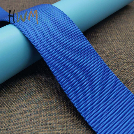 Bead Pattern Pure Nylon Webbing in Blue for Dog Collar