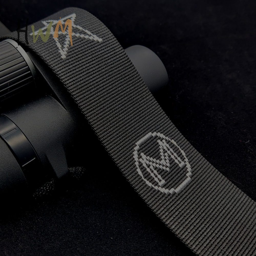 Polyester Jacquard Webbing in Black with Star Logo
