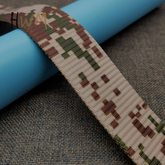 Camo Heat Transfer Printing Webbing for Military Tactical Belt