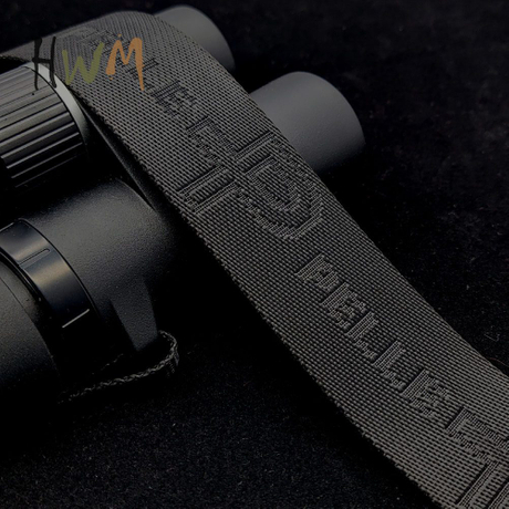 Black Color Jacquard Webbing Custom Logo