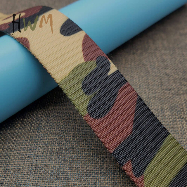 Camouflage Webbing with Heat Tranfer Printing
